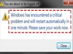 Xử Lý Lỗi Windows 7 Tự Khởi Động Lại Sau Một Phút