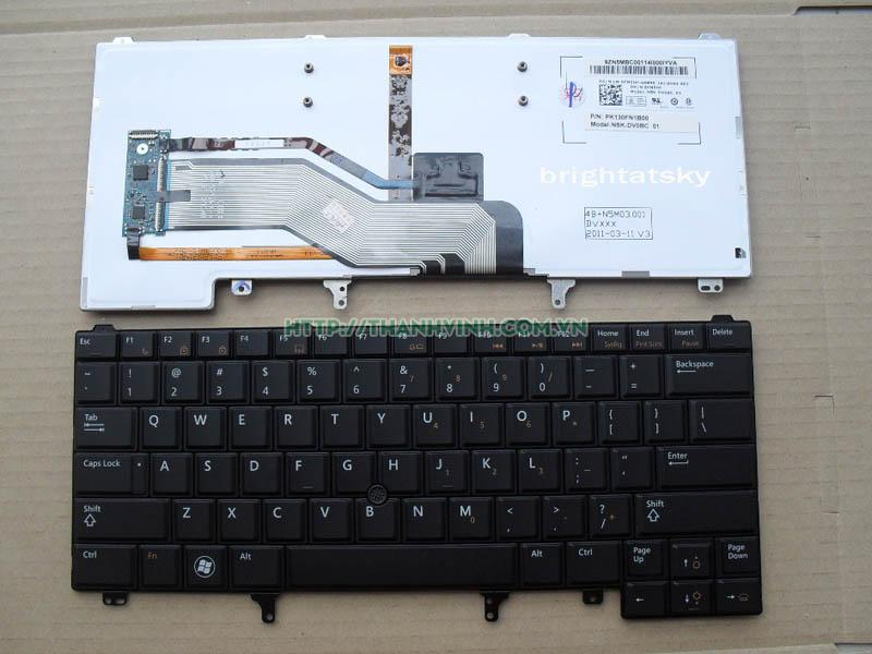 Bàn phím laptop Dell Latitude E5420 E5430 có đèn
