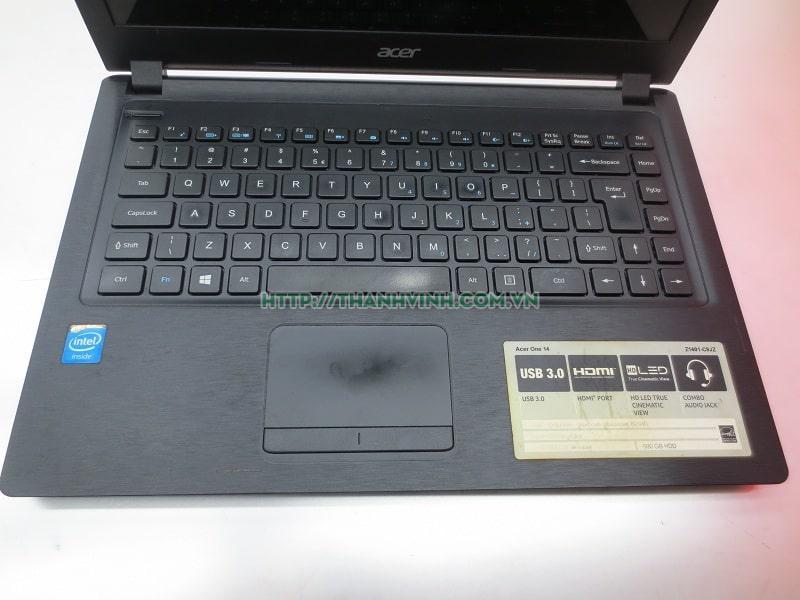 Laptop cũ ACER One Z1401 cpu core Celeron n2940 ram 4gb ổ cứng hdd 250gb vga intel hd graphics lcd 14''inch.(đã bán )