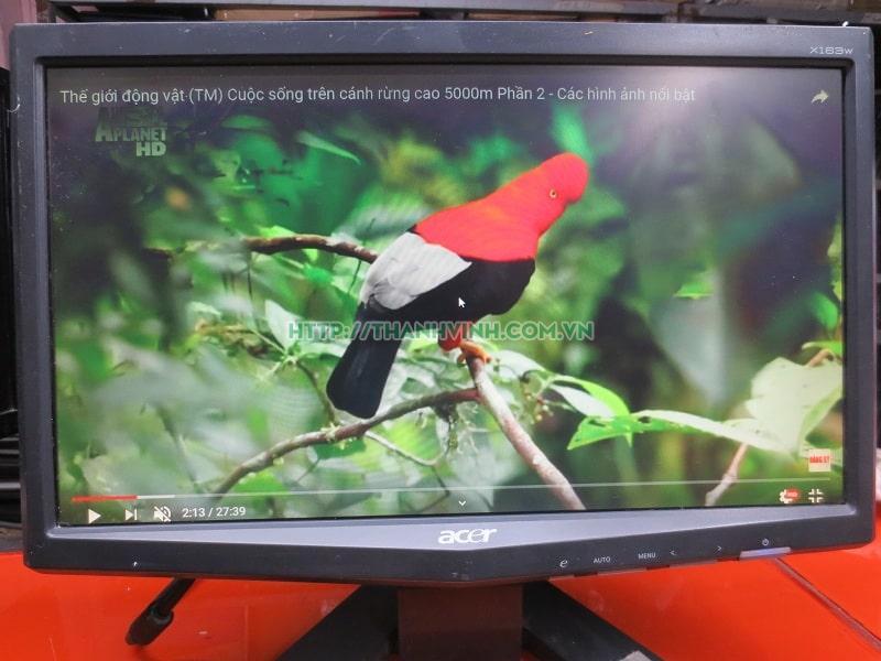 Màn hình máy tính cũ ACER X163w400 15.6''inch độ phân giải tối đa 1366 x 768 pixel.(đã bán 120321)