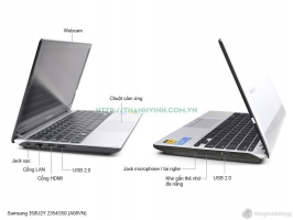 LAPTOP CŨ SAMSUNG 350U2Y CORE I3 - 2330M, VGA INTEL HD GRAPHICS 3000, RAM 2GB DDR3L, HDD 320GB, LCD 12.5